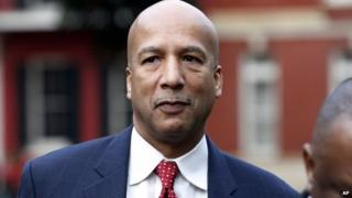 Former New Orleans Mayor Ray Nagin arrives at the Hale Boggs Federal Building in New Orleans, 27 January 2014