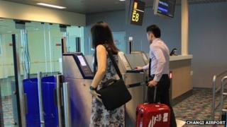 Self-boarding gates at Changi Airport