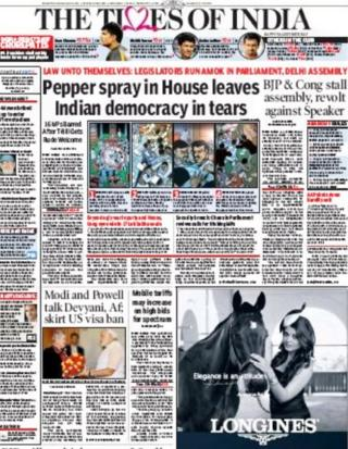 The Times of India front-page