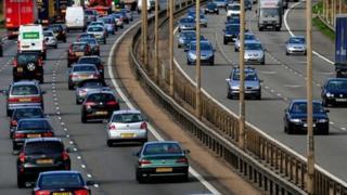 Traffic on M1 motorway