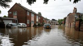 Flooding in Beverley, East Yorkshire in 2007