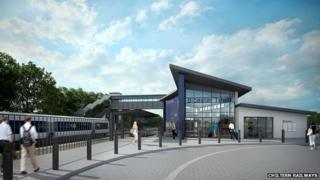 Bicester Town Station design