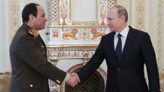 Abdel Fattah Sisi with Vladimir Putin