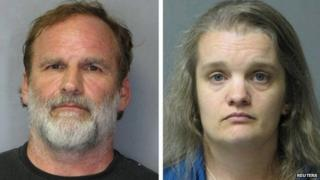 Dr Melvin Morse, 58, and his estranged wife Pauline Morse are seen in this combination of booking photos released by the Delaware State Police 9 August 2012