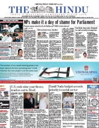 The Hindu front-page