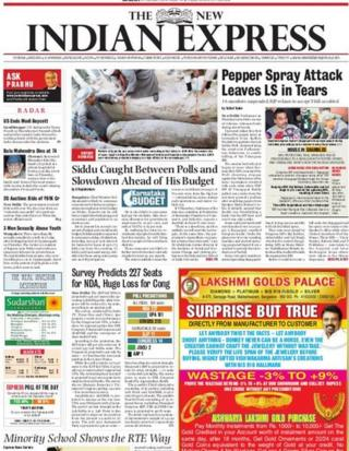 The New Indian Express front-page