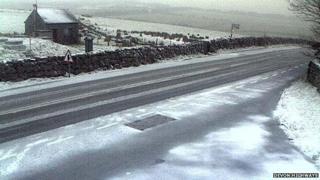 Snow on Dartmoor. Pic: Devon Highways