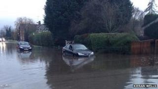 Flooding in Stoke Mandeville