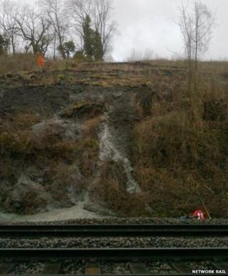 Landslip near Harbury Tunnel