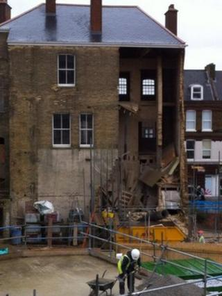 Chatham wall collapse
