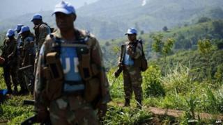 Monusco peacekeepers in Masisi, DR Congo - June 2012