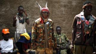Anti-balaka militia in the Central African Republic city of Bangui.