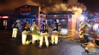 Fire at restaurant