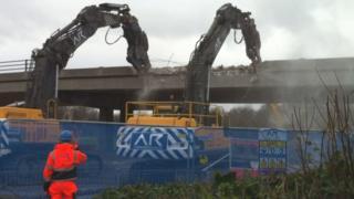 Leicester Belgrave flyover demolition work starts