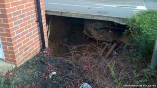Sinkhole in Hemel Hempstead
