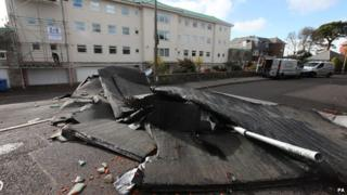 Poole roof blown off in storms