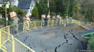 Undercliff Drive subsidence