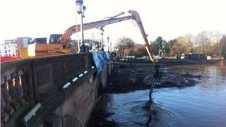 Crane by River Severn