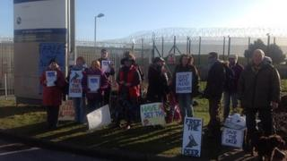 Deer cull protesters at Sellafield