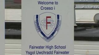Fairwater High School sign