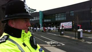 protest Cyffordd Llandudno