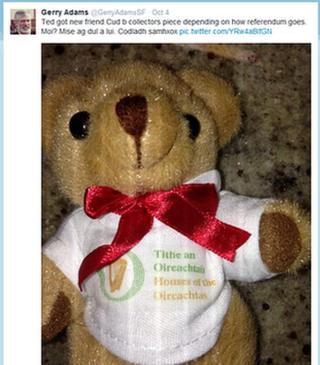 Twitter pic of teddy bear