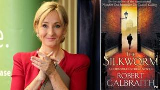 JK Rowling and The Silkworm book jacket