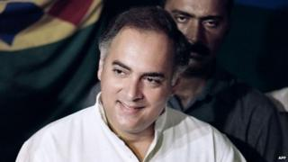 File picture of Rajiv Gandhi