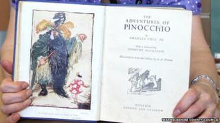 The returned Pinocchio book