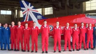 Red Arrows at RAF Scampton
