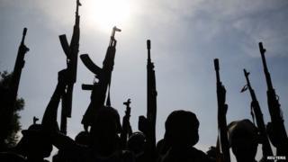 Rebels in Upper Nile state - 11 February 2014