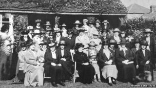 Members of the first Women's Institute meet in 1920