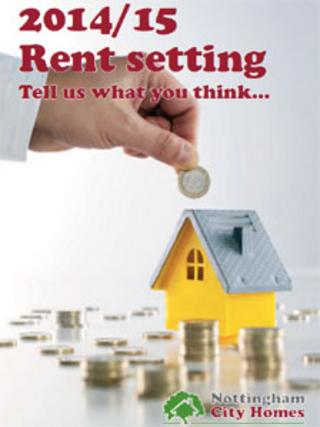 Council rent leaflet