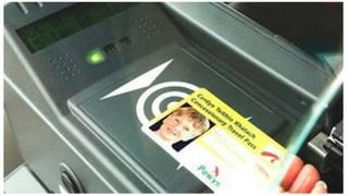 Card reader and bus pass