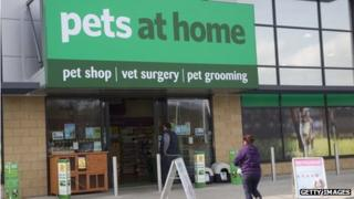A Pets at Home shop