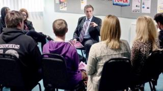 Cleveland PCC Barry Coppinger meets young people