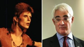 David Bowie and Alistair Darling