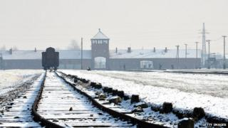 Entrance to Auschwitz Birkenau death camp (file pic)