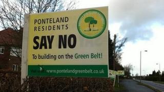 Green belt protest in Ponteland