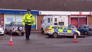 Security van robbery in Tannochside