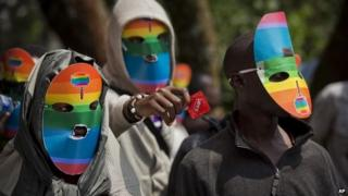 Kenyan protesters against Uganda's Anti-Homosexuality Bill