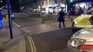 Police cars near Waterloo Bridge