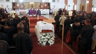 Requiem mass at the Roman Catholic cathedral in Accra for BBC presenter Komla Dumor on February 21, 2014