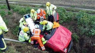 Magpas Helimedix working alongside the emergency services