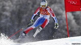 Skiier at Sochi