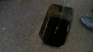 The hole in Victoria Road in Broadstairs