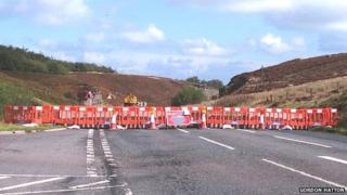 Road closed at Kex Gill due to landslip