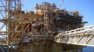 Total Elgin-Franklin North Sea oil and gas platform (file pic)