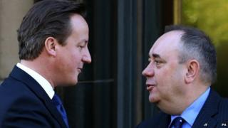 Cameron a Salmond