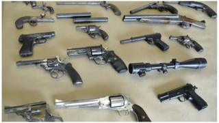 Guns found in flat